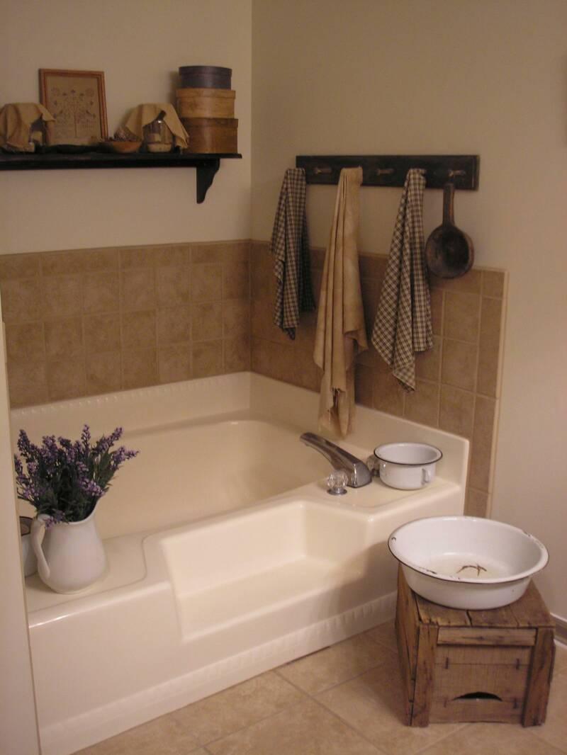 Primitive & Colonial Inspired Bathrooms