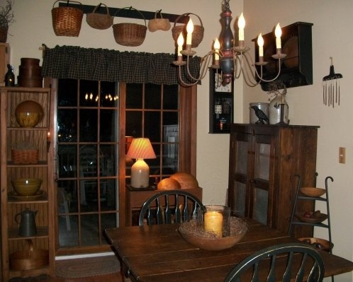 Catskill mountain prim s photo gallery for Primitive dining room ideas