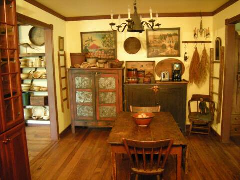 primitive decorating ideas for kitchen a primitive place primitive amp colonial inspired kitchens 25519
