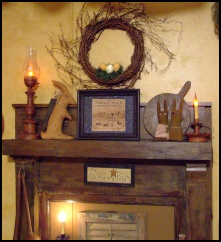 A Primitive Place Primitive Amp Colonial Inspired Fireplace Displays